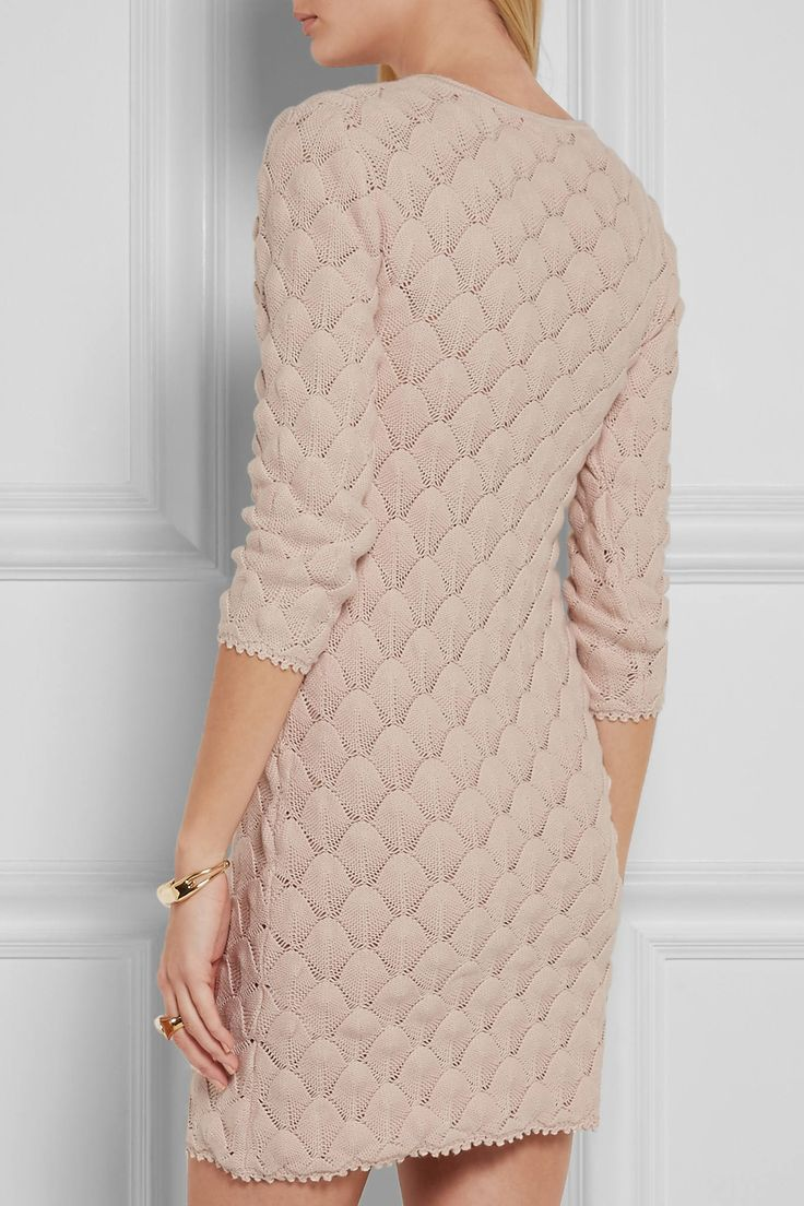 Wild Salt Spirit: Pink See By Chloé Crocheted Cotton Mini Dress2