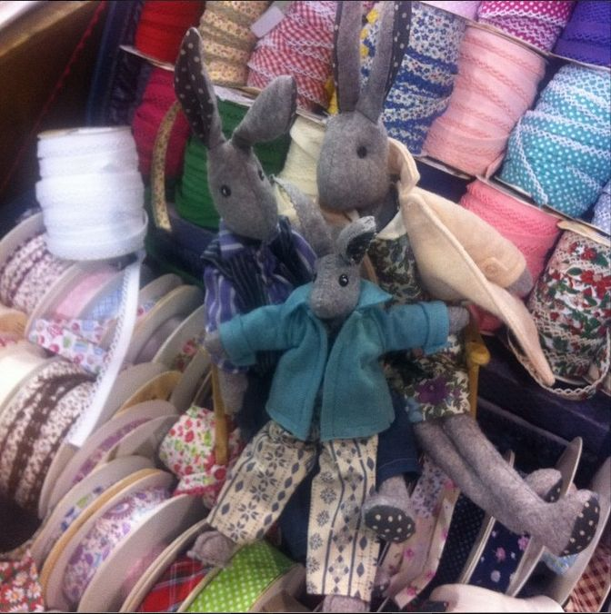 Teeny weeny Lunas at Exeter Quilt Show