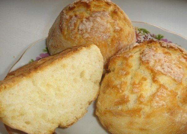 Фото к рецепту: Быстрые булочки без яиц и дрожжей