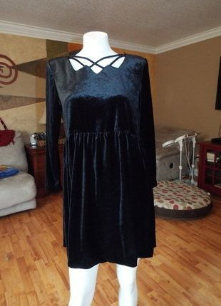 Buy my item on #vinted http://www.vinted.com/womens-clothing/other-dresses/21548497-molly-malloy-vintage-90s-velour-dress-fun-sexy-cutee-sz-12