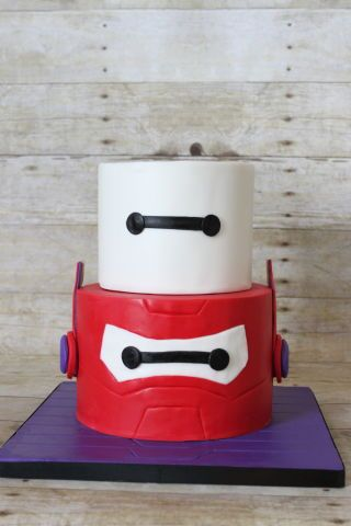 Baymax 2.0 birthday cake for Adam