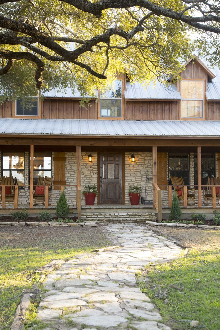 1677 best pole barn houses images on pinterest pole barn for Rustic front porch