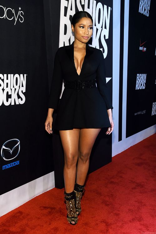 """ Nicki at 'Fashion Rocks'. """
