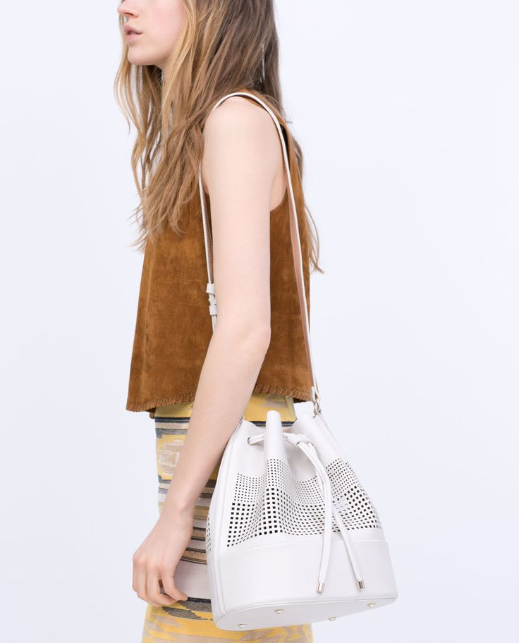 Image 6 of PERFORATED BUCKET BAG from Zara