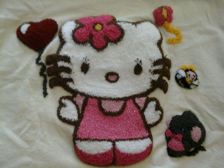 Hello kitty bordado con agujas magicas
