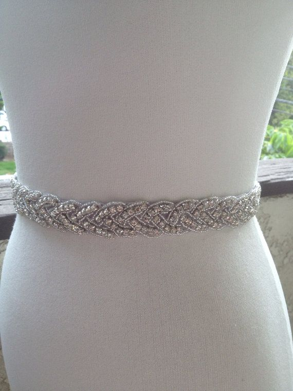 Hey, I found this really awesome Etsy listing at http://www.etsy.com/listing/160908100/free-gift-silver-wedding-belt-sashbridal