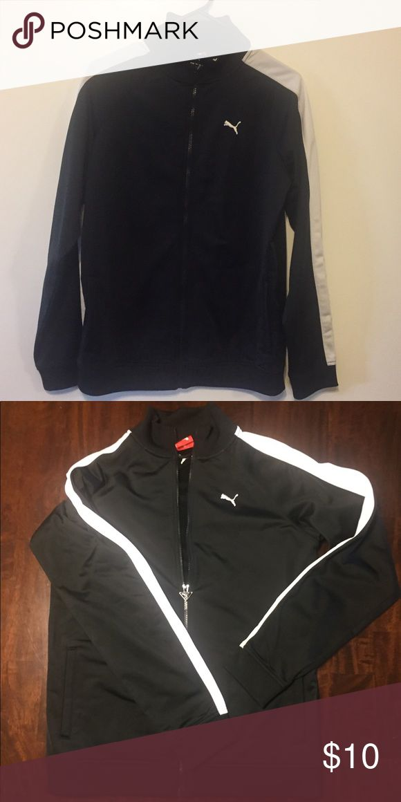 Puma black and white zip up Only worn a few times! No snags or damage. Great layer for on the go. Fits women's medium/small Puma Jackets & Coats