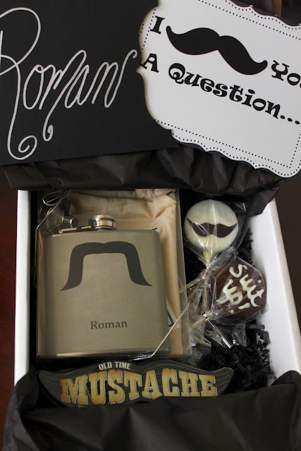 doo-dah!: I Mustache You A Question; Will you be my groomsman?: Bridesmaid Groomsman, Funny Ideas, Groomsman Ideas, Man Best Friends, Be My Groomsman, Groomsman Gifts, Be My Bridesmaid, My Man, Gifts Boxes