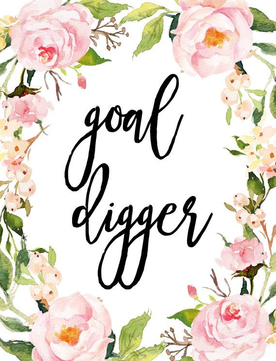 Goal Digger Printable Art Office Wall Art Cubicle Art