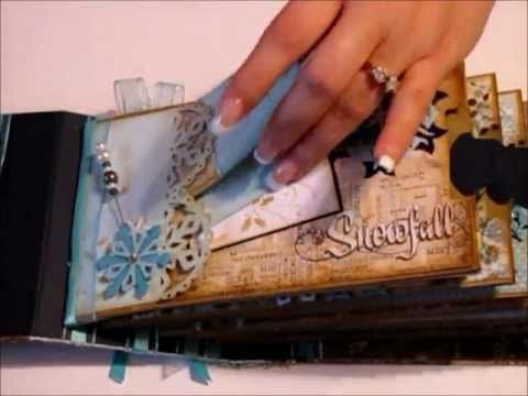 Winter Mini Album for Gina. Part 2 Lots of great ideas with explanation of how she did it.