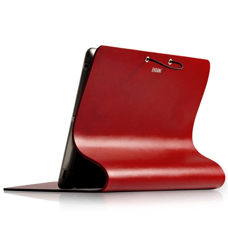 Evouni Leather Arc Cover for New iPad / iPad 3 - Claret Red