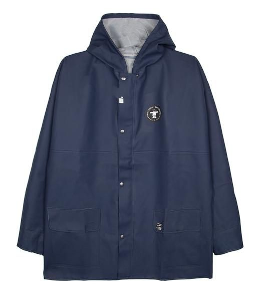 Founded in 1964 in the port of Finistère, France, Guy Cotten started with the aim of making better clothing for fishermen. With comfort and safety in foul weather their watchwords, we couldn't imagine a better company to collaborate on a jacket with. Made from Guy Cotten's supple yet durable coated fabric with fully welded internal seams, this waterproof jacket will see you through the fiercest of coastal weather.