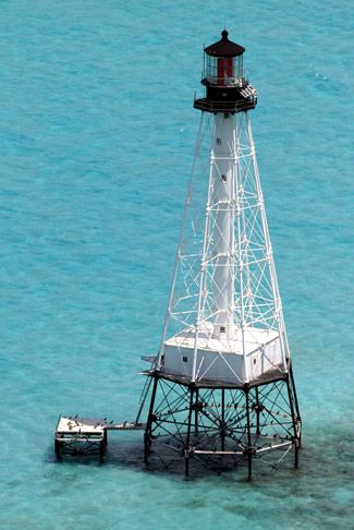Alligator Reef Lighthouse, Florida at Lighthousefriends.com