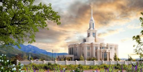 Payson Temple With Mountain Background Lds Temples