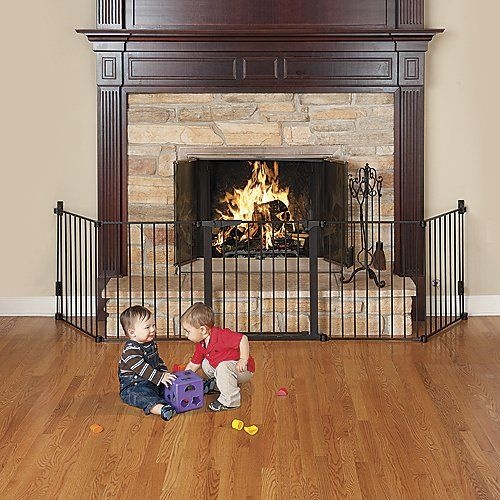 Auto Close HearthGate Fireplace Gate  http://www.babystoreshop.com/auto-close-hearthgate-fireplace-gate/