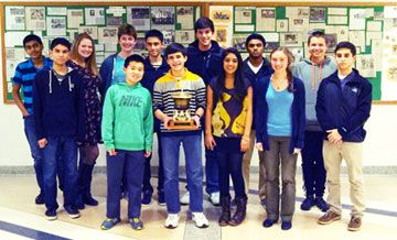 The Goshen High School Academic League Team finished in first place at the Orange County Academic League (OCAL) Tournament at Cornwall High School.