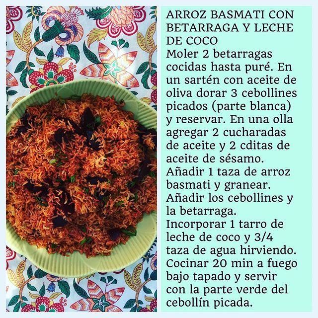 """""""Receta de Arroz Basmati con Betarraga y Leche de Coco"""" Photo taken by @virginiademariaoficial on Instagram, pinned via the InstaPin iOS App! http://www.instapinapp.com (10/12/2015)"""