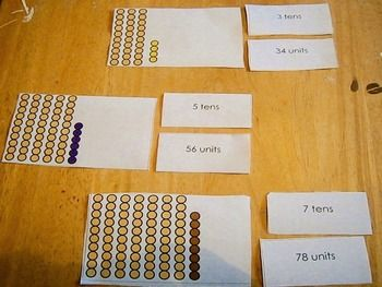 Montessori math: Place value tens and units