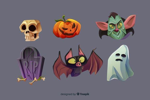 Telechargez Collection D Elements D Halloween De Dessin Anime Realiste Gratuitement Halloween Clipart Free Realistic Cartoons Cartoon Halloween