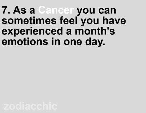 zodiac facts: cancer - emotion