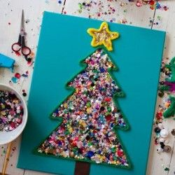 Christmas tree craft for kids, 1 of the 25 easy Christmas crafts for kids