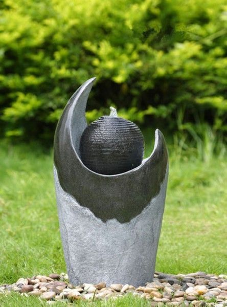 Brunnen Springbrunnen FoSferico für Aussen + Innen 70cm in Garten & Terrasse, Teiche, Bachläufe und Brunnen, Spring- & Zierbrunnen   eBay!
