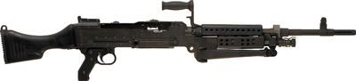 FN MAG 58 mocked up to resemble an M240B, with synthetic buttstock and heatshield added - 7.62x51mm NATO