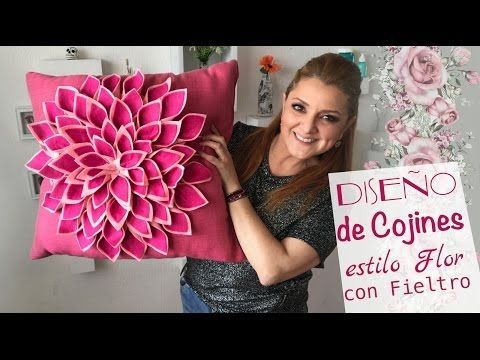 Cojines de Flores :: Decorando Cojines :: Chuladas Creativas Pillow diy: Pillow Flower - YouTube