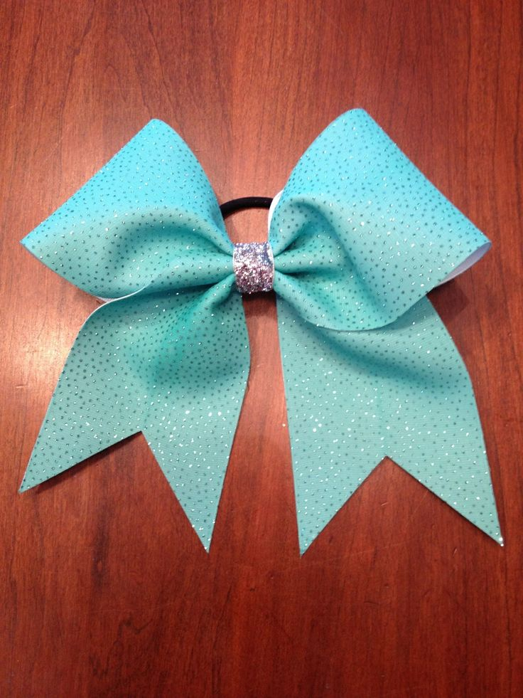 Cheer bow- love the blue