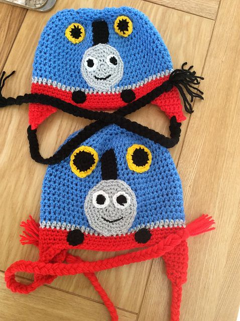 FREE CROCHET PATTERN~~Thomas the Train Hat