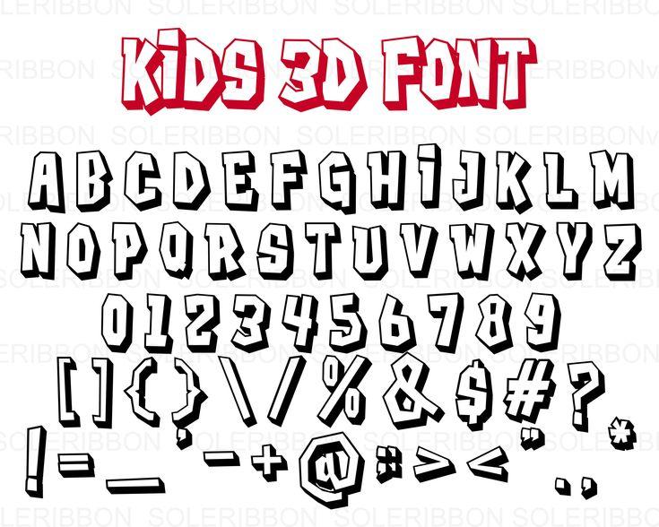 Download 3D Alphabet SVG Font Cutfile, Modern Font SVG, Handwritten ...