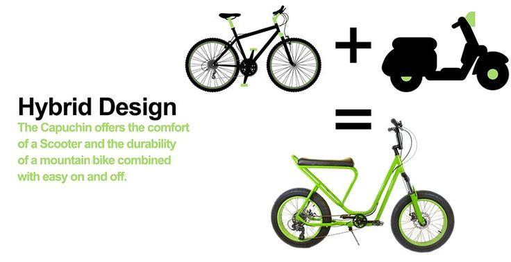 Monkey Faction соединил скутер и горный велосипед в новом концепте Сapuchin.  Дизайн велосипеда Capuchin сочетает комфорт и простоту скутера с долговечностью и маневренностью горного велобайка. Одна из характерных черт Capuchin – велорама, дизайн которой заметно отличается от традиционной ромбовидной формы. Взамен предлагается низкая рама из алюминиевого сплава, позволяющая выбрать оптимальную посадку во время езды, а также удлиненное узкое сиденье Scooter Saddle SystemTM, напоминающее…