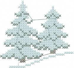Evergreen Trees (cross-stitch)