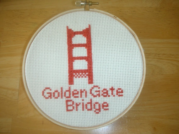 I created my first counted cross stitch pattern and stitched it up for my Etsy shop! Woo!