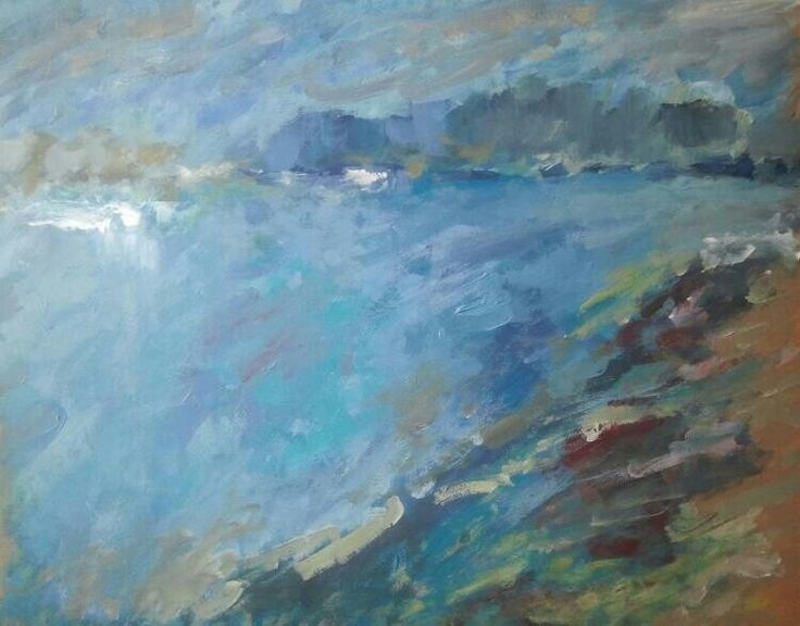IL MARE 3 Acrylic on board 35/30cm 2014/selectata