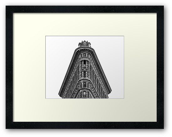 Flatiron Building Framed Print • Also buy this artwork on wall prints, apparel, stickers, and more.  #NY #NYC #USA #America #UnitedStates #Manhattan #FlatironBuilding #Architecture #Structure #BlackAndWhite #Monochrome #Historic #Skyscraper #HighRise #FullerBuilding #NewYork #NewYorkCity #Art #Print #Posters