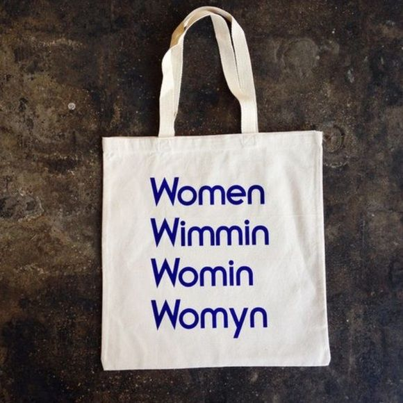 "Urban Outfitter Modern Women Tote Bag Modern Women Tote Bag WOMEN WIMMIN WOMIN WOMYN TOTE BAG from Modern Women   silkscreened 15"" x 15"" canvas. Urban Outfitters Bags Totes"
