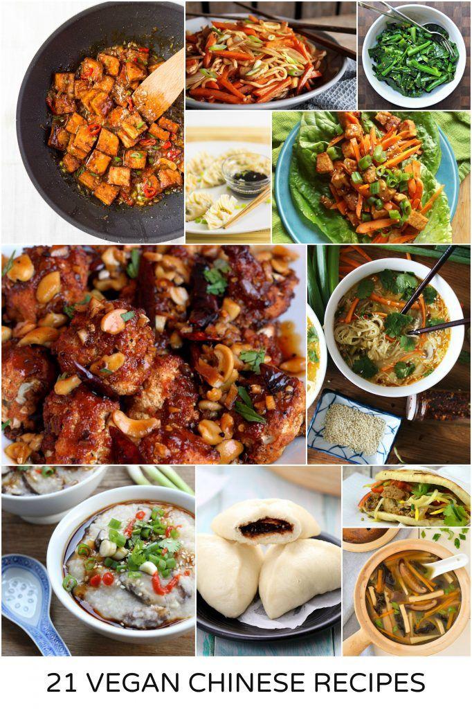 21 Vegan Chinese Recipes Vegan Chinese Food Chinese Dishes Recipes Vegan Dinner Recipes Easy