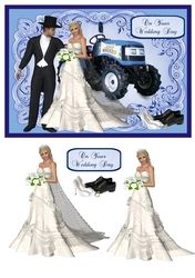 Wedding day card with tractor on Craftsuprint - View Now!
