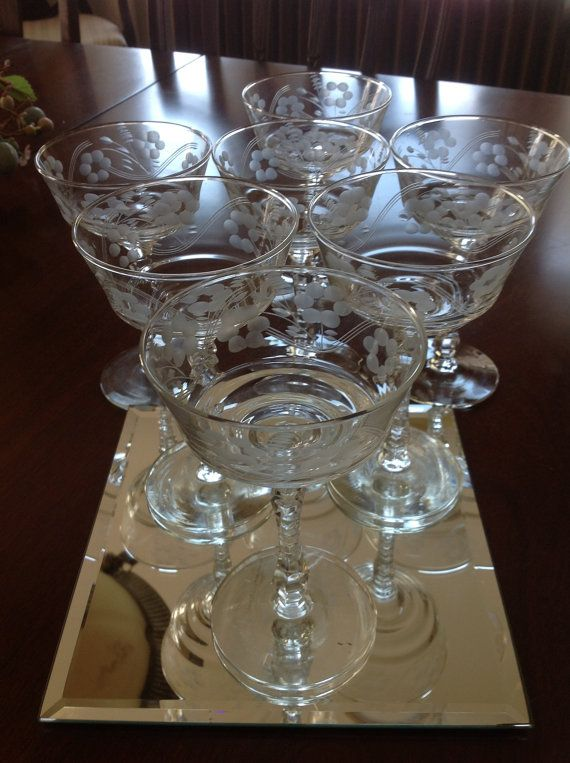 Its always fun to find what you have--and realize you got even more of a steal than you thought!! 40 of these for 20 bucks- SCORE!  Vintage Crystal Champagne Coupes or Sorbet by JMSquaredVintage
