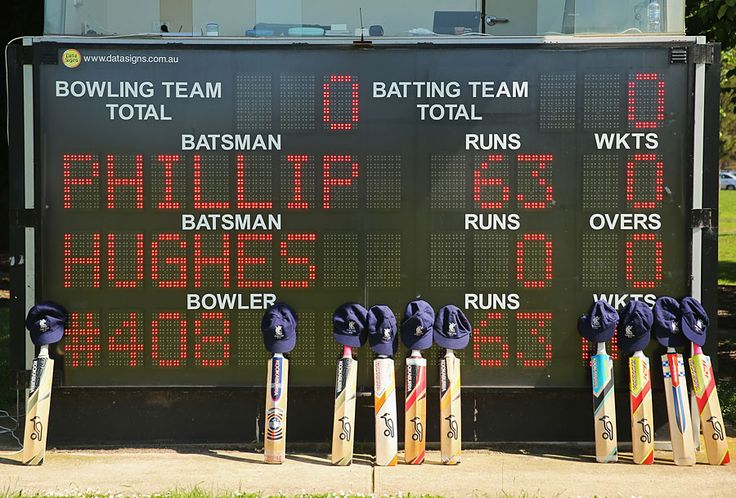 There were tributes to Phillip Hughes all over Australia during club cricket on Saturday