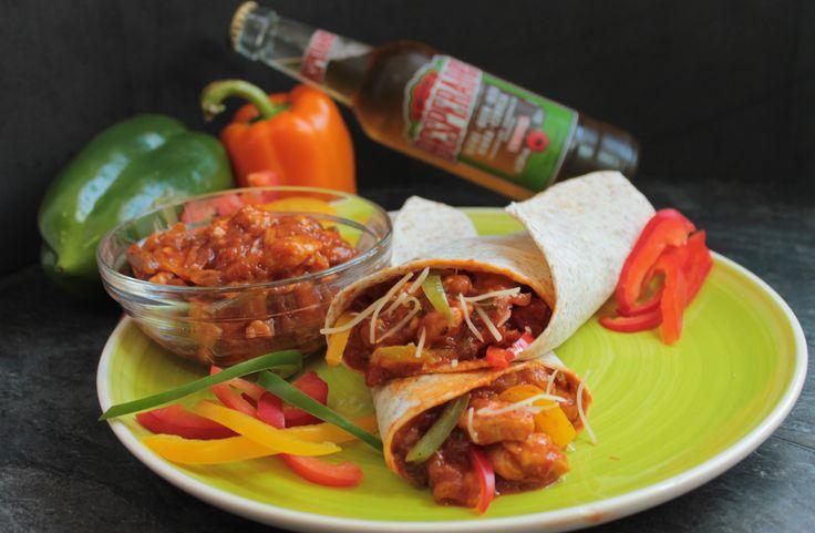 Burritos mexicanos de pollo y queso sin lactosa | Red Hot wraps!