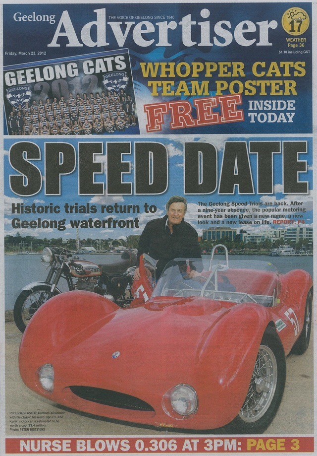 Geelong Revival Geelong Advertiser Front Cover.