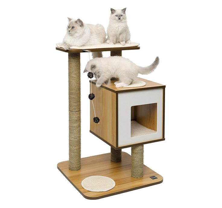 AmazonSmile: Vesper Cat Furniture, Walnut, V-Double: Pet Supplies