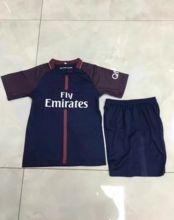 child football uniform kids football jersey 2017-18 Neymar jr soccer set high quality