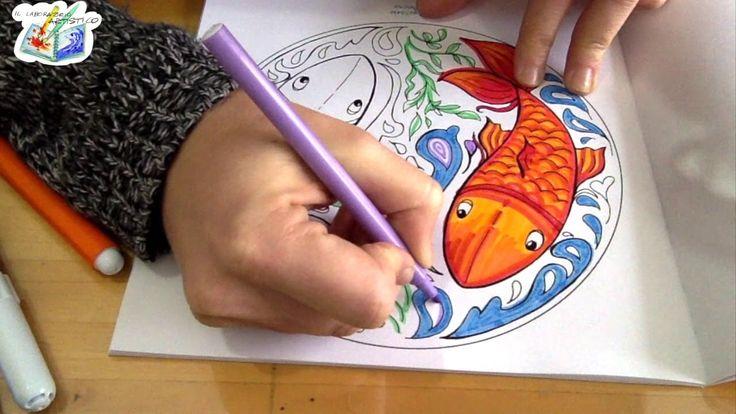 Tutorial per bambini: coloriamo un mandala coi pennarelli