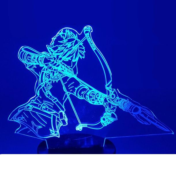Lampe De Bureau 3d Link Zelda Breath Of The Wild Link Zelda Zelda Breath Breath Of The Wild