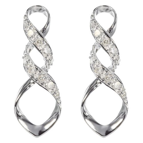 9ct Yellow Gold Twist Diamond Earrings $149 - purejewels.com.au