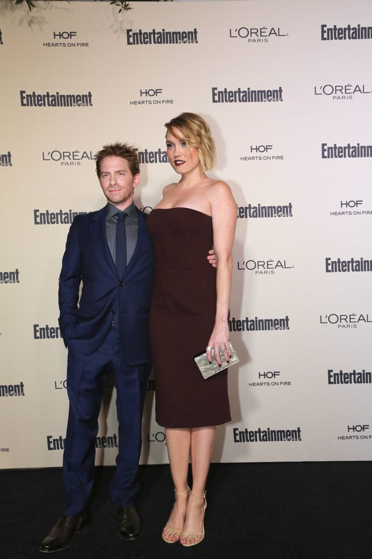 Seth Green and Clare Grant, who is wearing HOF Illa Constellation Right Hand Ring and the Illa Cluster Stud Earrings