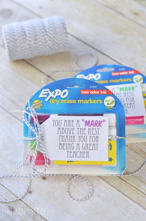 """You're a Mark Above the Rest"" EXPO Maker Teacher Appreciation Gift. Take a look at all these ways to show your teacher you are thankful with these FREE Teacher Appreciation Printables plus more teacher appreciation Ideas on Frugal Coupon Living.."
